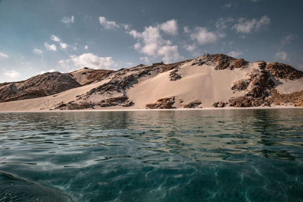 Socotra with clear blue sea and white sand in Yemen is one of the most beautiful places in the world.