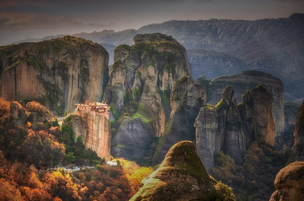 Our Greece travel guide includes the magnificent Meteora with its rock structures and monasteries