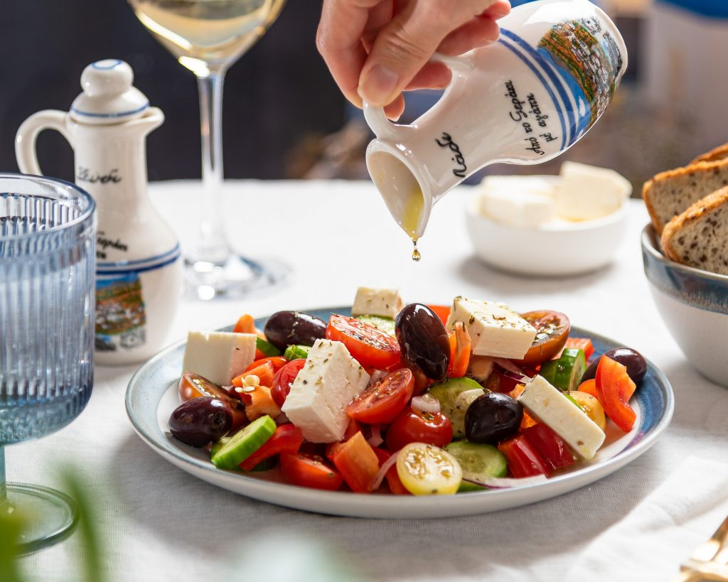 A greek salad is a treat to be enjoyed in Greece, food being an important part of every Travel Guide