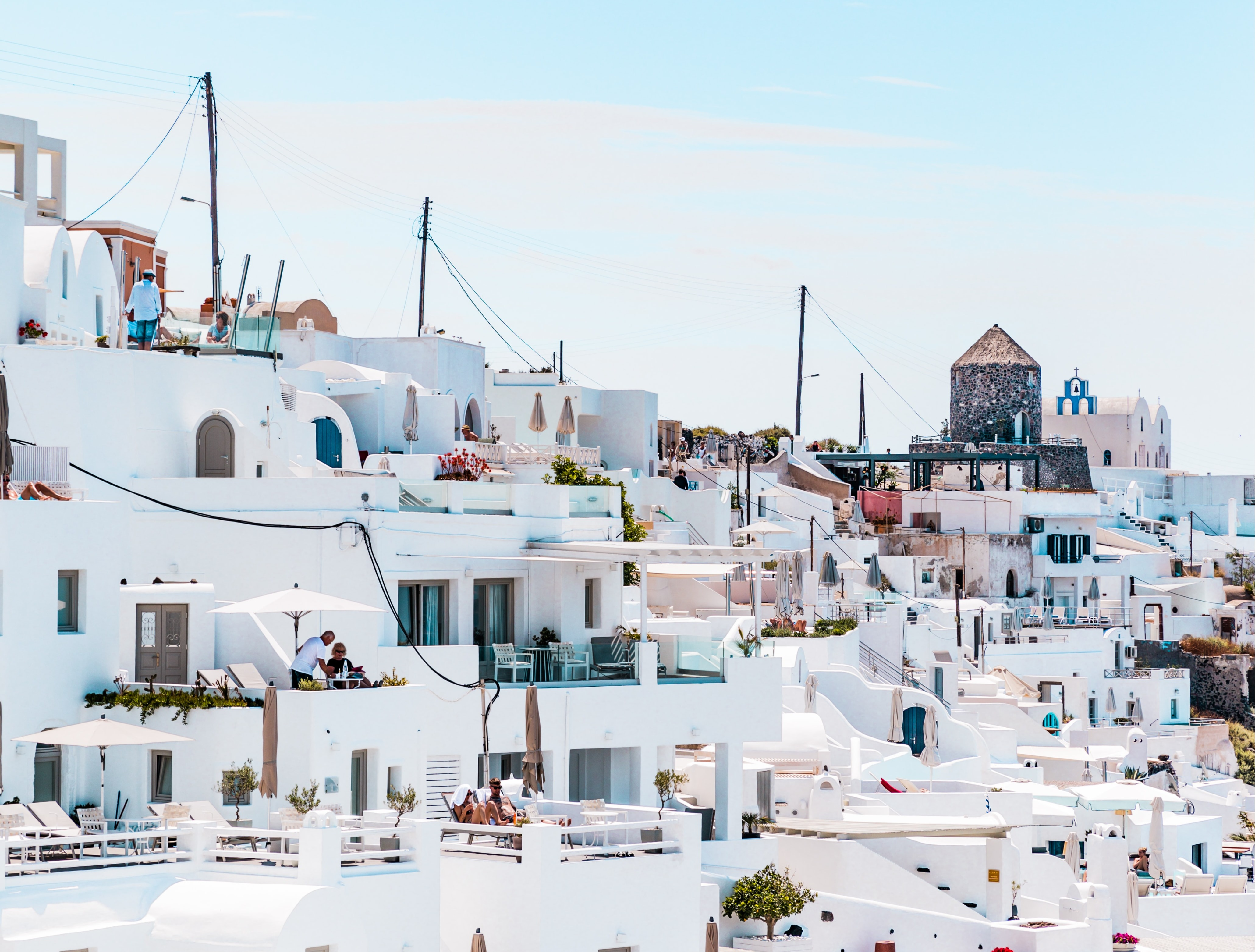 Greece covered in white buildings.