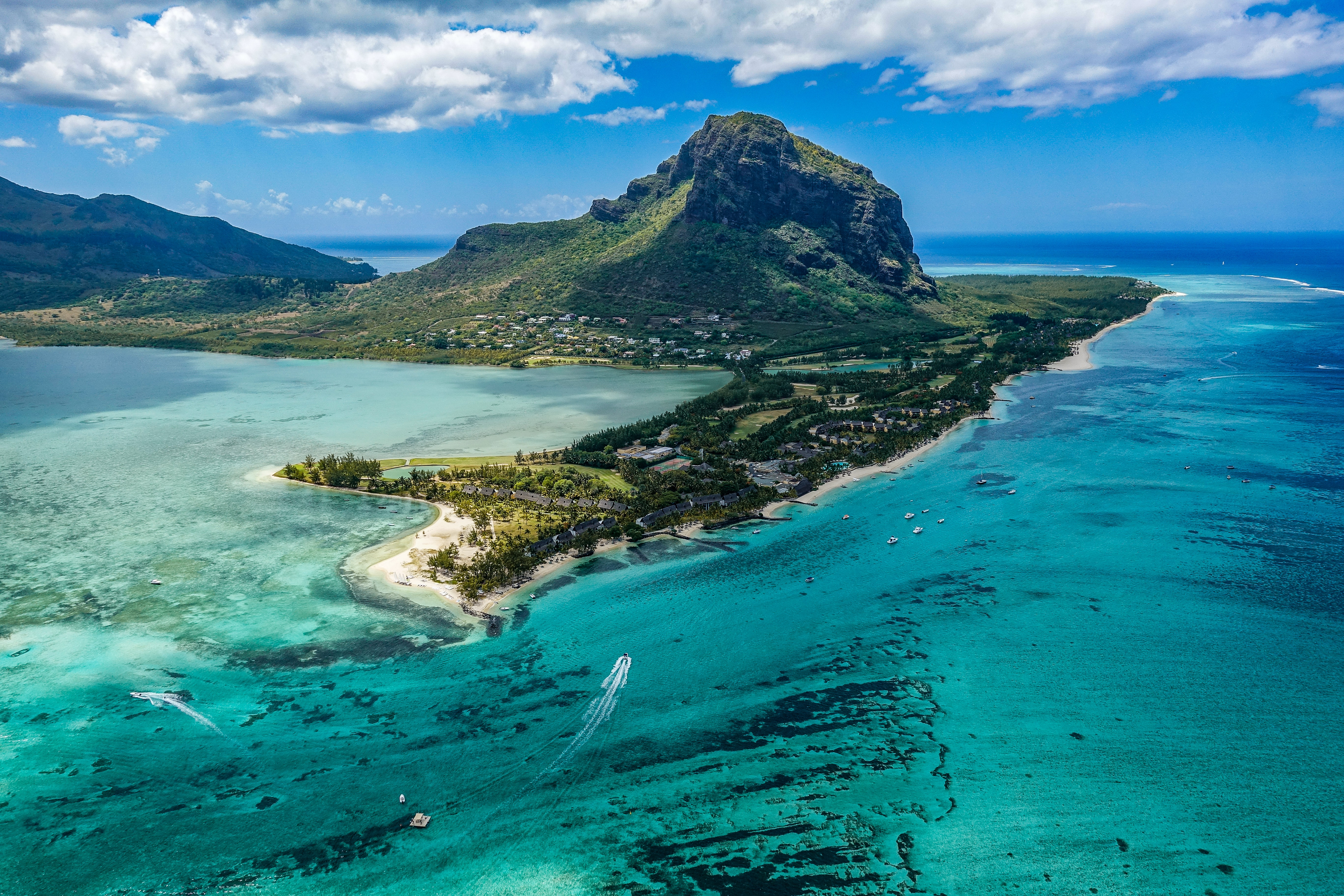 Mauritius is a covid alternative with crystal blue waters and green mountains.