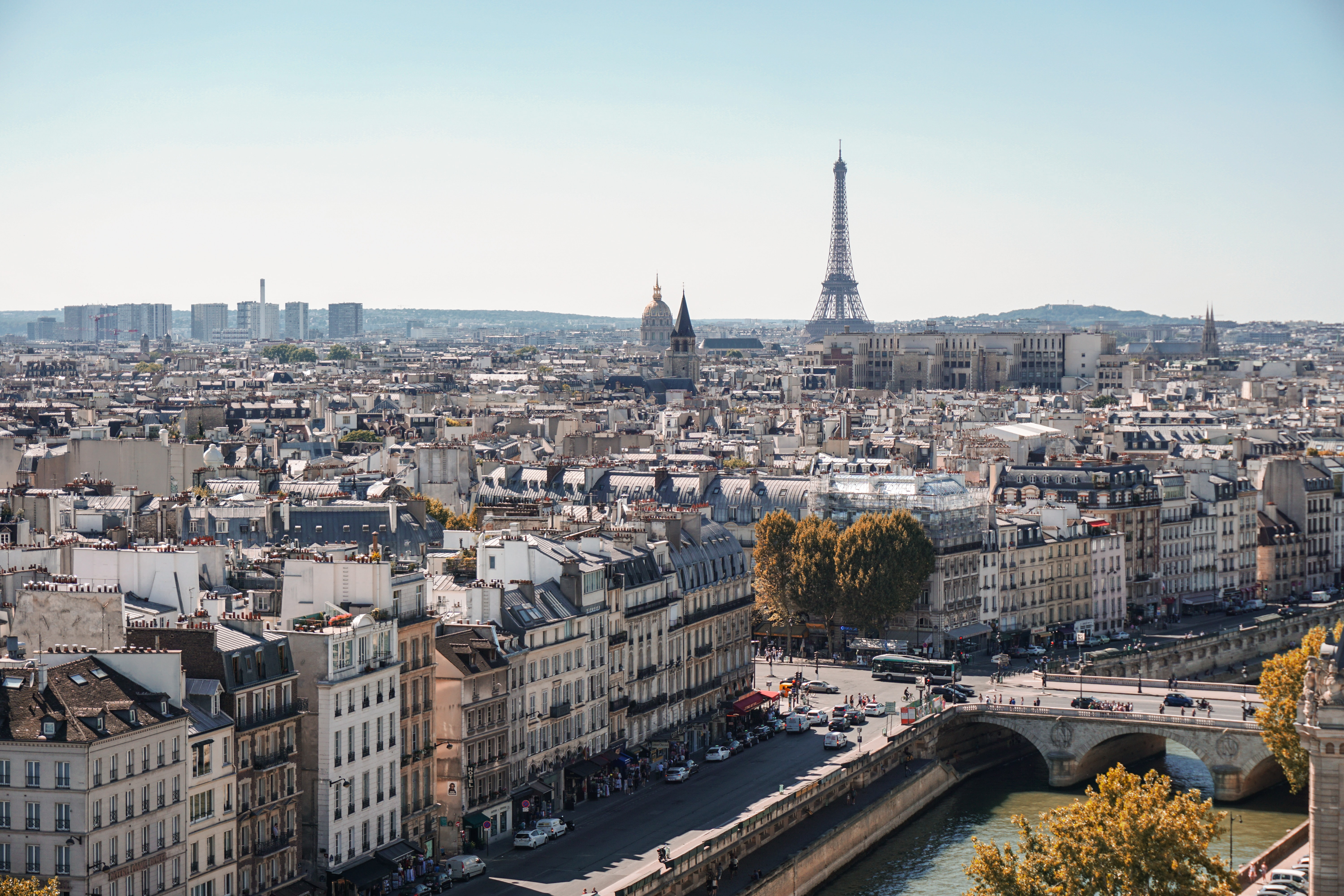 Paris Travel Guide: the city of Paris from above