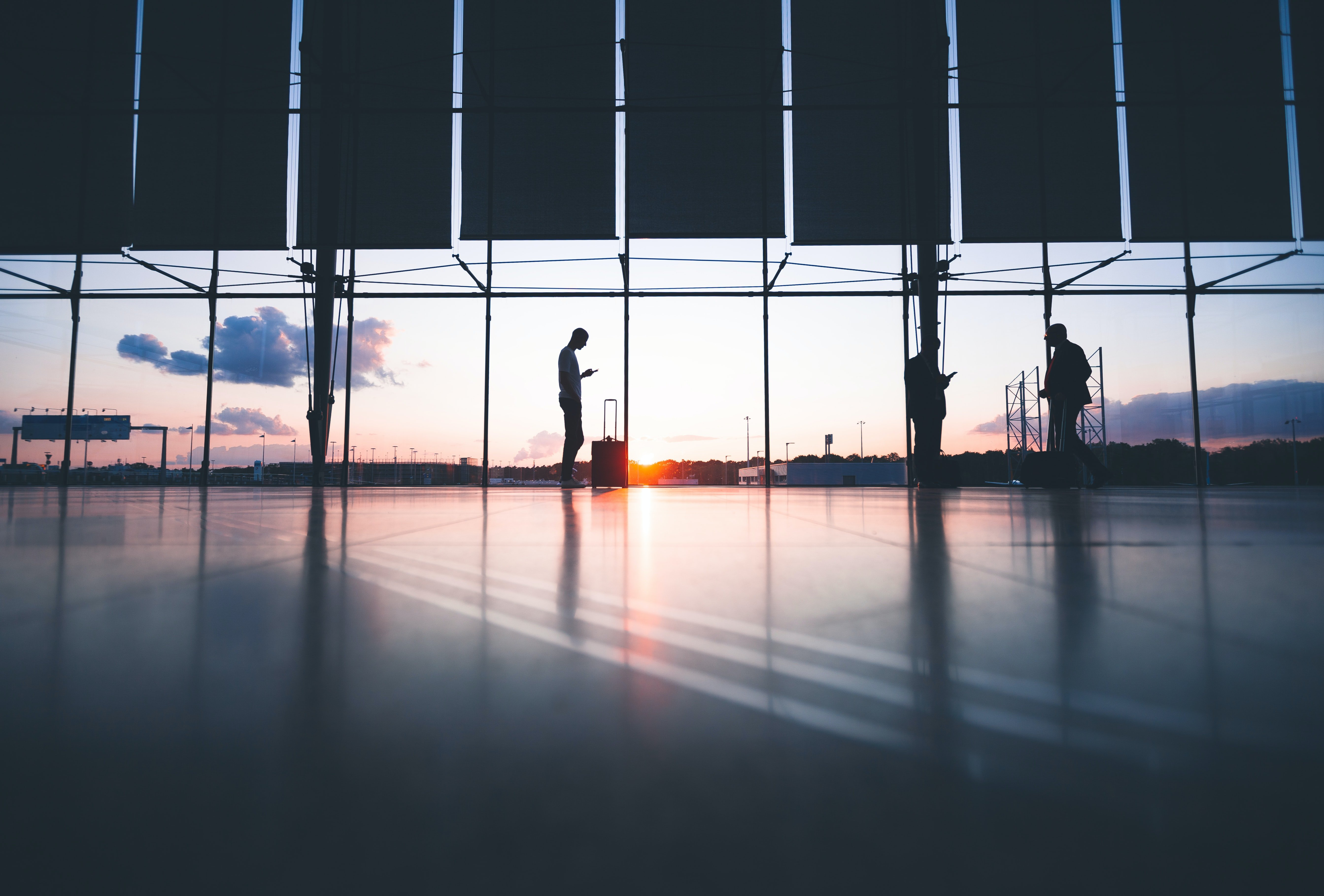 Most Beautiful Airports in the World: Sunrise through an airport window