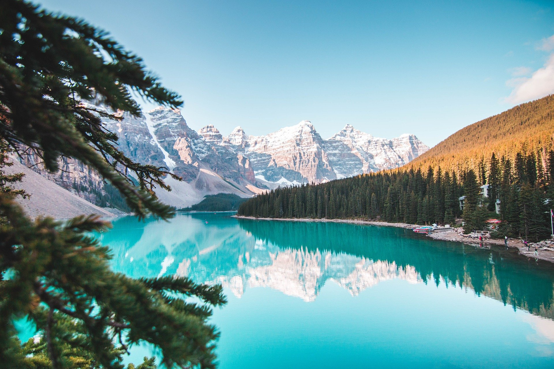 Most Beautiful Places in the World: turquoise waters at Banff in Canada